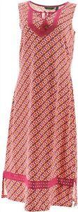 C Wonder Printed Knit Midi Dress Lace Trim Sangria S NEW A289085