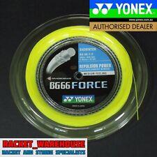 YONEX BG66 FORCE 200M COIL BADMINTON STRING YELLOW COLOUR LEE CHONG WEI'S STRING