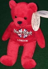 "Hard Rock Cafe LONDON 2000 ""RITA"" Teddy BEARA #2/5 Red Bean Bag BEAR - SIGNED!"