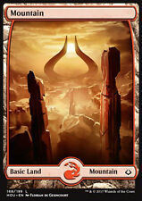 MTG MOUNTAIN/1 FOIL ITALIAN EXC - MONTAGNA FULL ART 188/199 - HOU - MAGIC