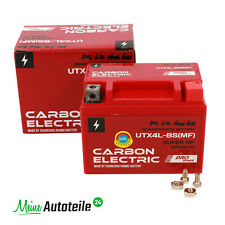 Gel Batterie YTX4L-BS 4Ah 12V Carbon Electric Motorrad Roller Quad wartungsfrei
