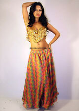 Professional Bellydance Chiffon Belly Dance Bellydancing Double Layered Skirt