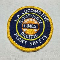 SOUTHERN PACIFIC LINES Los Angeles Locomotive Railroad Train Plant Safety Patch