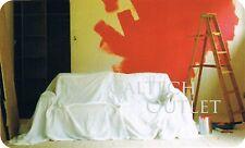 Reusable Painters Drop Cloth 10' x 5' Cover & Protect Floor, Carpet, Furniture