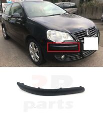 FOR VW POLO (9N) 2005 - 2009 NEW FRONT BUMPER MOLDING TRIM BLACK RIGHT O/S