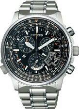 New CITIZEN watch PROMASTER eco-drive radio direct flight disc BY0080-57E Japan