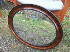 Vintage Wooden Oval Mantle/Wall Hanging Mirror
