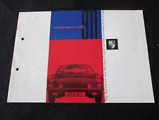 1965 1966 Porsche 911 Original 1st Prestige Catalog English Sales Brochure