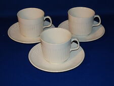 JOHNSON BROTHERS CHINA ATHENA WHITE 3 CUP & SAUCER SETS