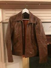 Vintage Casablanca Brown Genuine Leather Jacket, Size 40