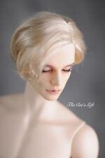 "8-9"" 1/3 BJD Hair IP SD doll wig Super Dollfie blonde short cut unisex M-mohair"