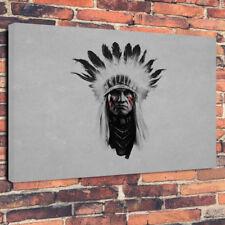 "Native American Indian Scatola stampata foto su tela A1.30""x20""30mm Deep Wall Art"