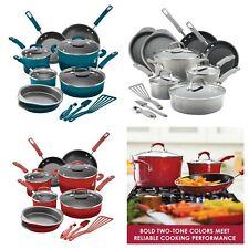 Nonstick Dishwasher Oven Safe Kitchen Cookware Set 15-Piece Pots Pans 3 Colors