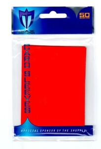Max Protection STANDARD Card Sleeves Flat RED (50 Count) MTG Pokemon Chaotic