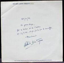 Nathalie Béra-Tagrine Ravel Chabrier Satie 1982 numéroté 0055 LP M, CV NM -