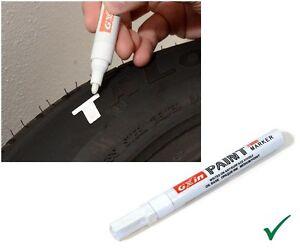 AUTO KFZ REIFENMARKER Reifen Marker Markierstift ReifenStift WEISS WASSERFEST