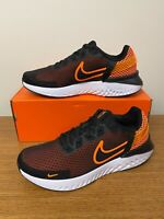 Nike Legend React 3 Shoes Black Total Orange White CK2563-011 Men's NEW