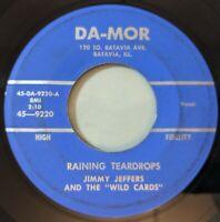 Jimmy Jeffers & Wild Cards - Raining Teardrops / Flute Shuffle 45 Rockabilly VG