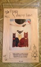 Miss Crow & Her Calico Friends Applique Shirt Pattern by DOWN MEMORY LANE NIP