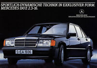 Mercedes 190 E 2.3-16 Prospekt 1983 8/83 brochure Autoprospekt prospectus Auto