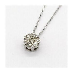 Jewelry Pendant Necklace   Diamond 0.1ct White Gold 1813055