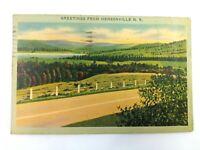 Vintage Postcard 1945 Greetings from Hensonville New York NY Rural Valley Scene