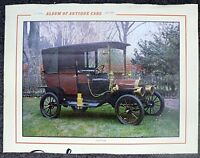 "LARGE CALENDAR PAGE "" ALBUM OF ANTIQUE AUTOMOBILES "" 1910 FORD  PICTURE"
