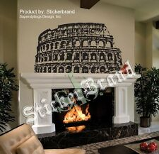 "Vinyl Wall Decal Sticker Roman Colosseum Rome Italy Black color 36"" x 51"" #354"