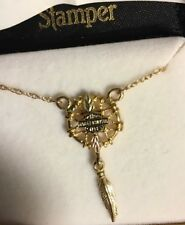 NIB 10K Harley Davidson Necklace Black Hills Gold chain Dream Catcher