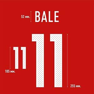 Bale 11. Wales Home football shirt 2016 - 2017 FLEX NAMESET NAME SET PRINT