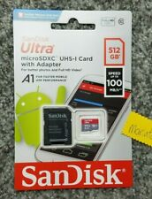 SanDisk Ultra 512 GB Micro SD XC UHS-I Card Class 10 A1 100MB/s Memory Card