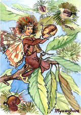 ACEO Limited Edition- The Sweet Chestnut  Fairy inspired by CM Barker