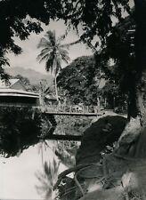 TAHITI c. 1940 - Papeete Rivière du Rempart - Photo Nordmann - T 209