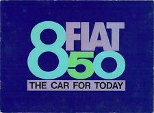 Fiat 850 Saloon 1964-71 UK Market Sales Brochure Standard S