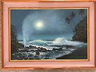 Walfrido Garcia Original Oil on Canvas 'Tide Pools and Blowholes'