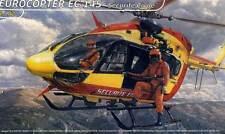 Heller Eurocopter EC-145 Sécurité Civile Civile modèle-kit 1:72 Hélicoptère