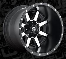 20x14 Fuel Maverick D537 6x135/6x5.5 et-76 Black Machined Wheels Rims (Set of 4)