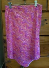Womens paisley floral summer skirt ... size M (10)