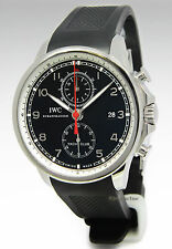 IWC  Portuguese Yacht Club Chronograph Steel Black Dial Watch Box/Papers 3902