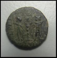 ANCIENT ROMAN COIN RESTORED (Constantinian era) + POUCH!
