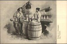 Political Propaganda? Sauerkraut Barrel France & Germany c1900 Postcard