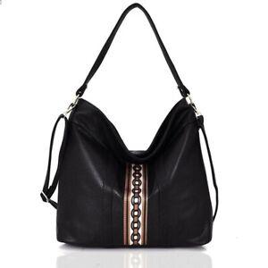 Damentasche  Handtasche  Schultertasche  Umhängetasche Tasche Fb. Schwarz  519