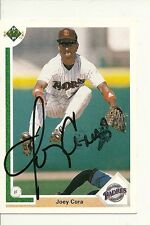 JOEY CORA SAN DIEGO PADRES SIGNED AUTO 1991 UPPER DECK CARD #291 W/COA