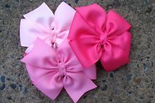 "Lot Of 12 Girl's 5 Inch Hairbows Hair Bows - Choose Your Colors - 5"" Hair Bows"