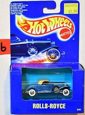 HOT WHEELS 1991 BLUE CARD ROLLS-ROYCE WHITEWALLS BLUE BOX