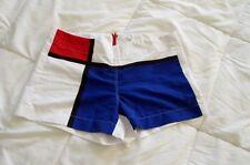 PRET-A-SURF Mondrian Graphic Swim Surf Boy Shorts Trunks Cover Up XS S 2