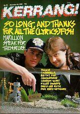 Marillion on Kerrang Cover 1988   Dan Reed Network   Britny Fox    Crimson Glory