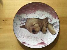 The Hamilton Do Not Disturb Collector's Golden Puppy Collectors Plate 0952A