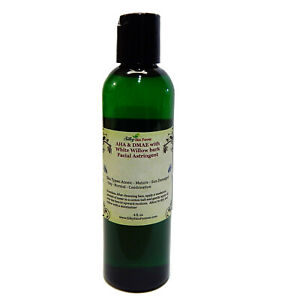 AHA & DMAE White Willow Bark Facial Astringent Toner Glycolic Lactic Acid Acne