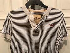 Hollister cooles Kurzarm T-Shirt T Shirt Gr. M weiß schwarz stripes 100% Cotton